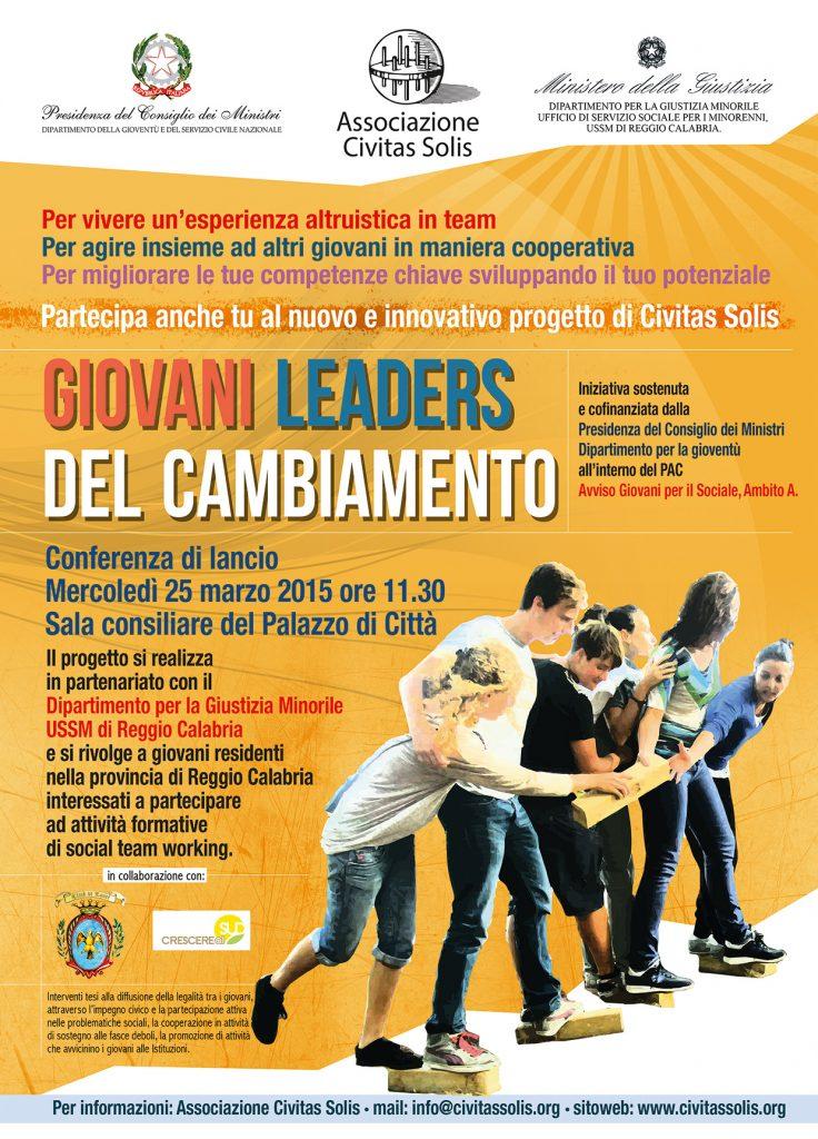 poster giovani leaders del cambiamento presentazione civitas solis