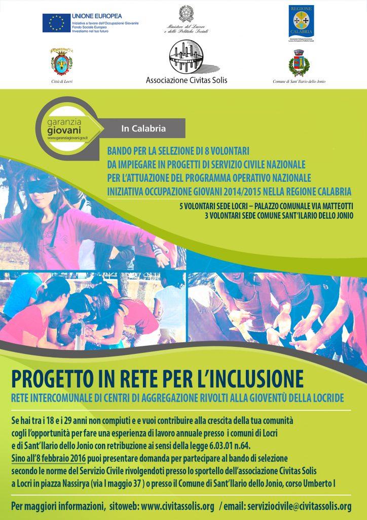 servizio civile 2016 civitas solis poster